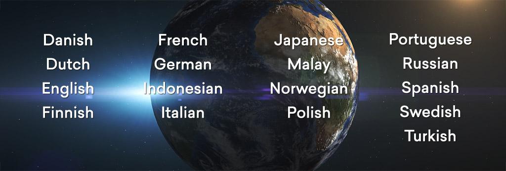 17 languages